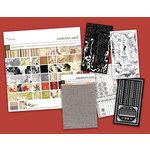 BasicGrey - Scarlet's Seasons - Kit - 8 BasicGrey Page Layouts - Chipboard Rub Ons and Paper Kit, CLEARANCE