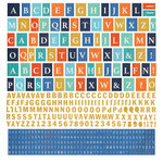 BasicGrey - Adrift Collection - 12 x 12 Cardstock Stickers - Alphabet