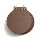 Basic Grey - Chocolate Chip - Chipboard Album - Circle - Milk Chocolate, CLEARANCE