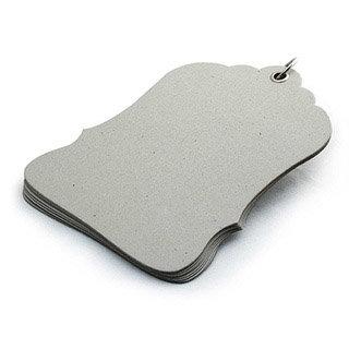 BasicGrey - Chipboard Album - Luggage Tag , CLEARANCE