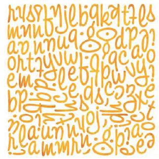 BasicGrey - Ambrosia Collection - Mini Monogram Stickers - Wilma