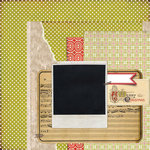 BasicGrey - Aspen Frost Collection - Christmas - 12 x 12 Double Sided Paper - Humbug