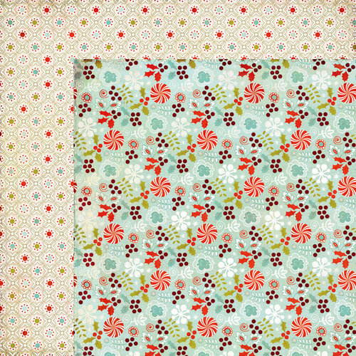 BasicGrey - Aspen Frost Collection - Christmas - 12 x 12 Double Sided Paper - Strudel