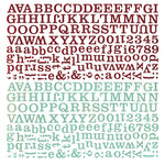 BasicGrey - Aspen Frost Collection - Christmas - 12 x 12 Alphabet Stickers