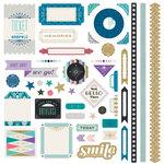 BasicGrey - Aurora Collection - 12 x 12 Cardstock Stickers - Elements