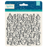 BasicGrey - Aurora Collection - Printed Chipboard Stickers - Letters