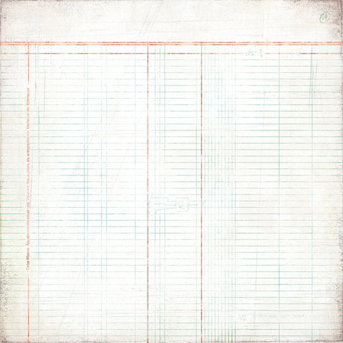 BasicGrey - Basic White Collection - 12 x 12 Paper - Ledger