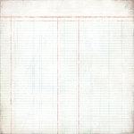 BasicGrey - Basic White Collection - 12 x 12 Paper - Ledger