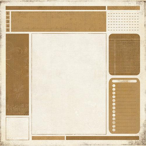 BasicGrey - Basic Manila Collection - 12 x 12 Paper - Bulletin