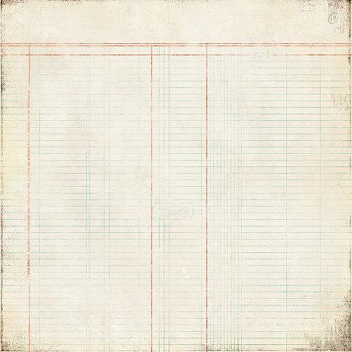 BasicGrey - Basic Manila Collection - 12 x 12 Paper - Table