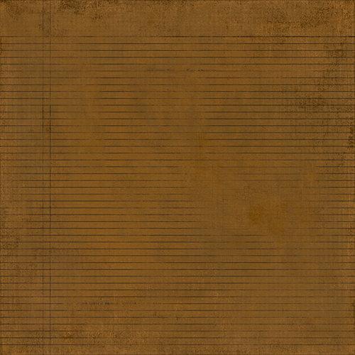 BasicGrey - Basic Kraft Collection - 12 x 12 Paper - Rule
