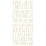 BasicGrey - Basic Manila Collection - Mini Monogram Stickers