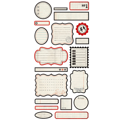 BasicGrey - Basic Manila Collection - Cardstock Stickers - Labels