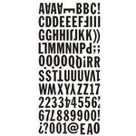 BasicGrey - Basic Kraft Collection - Mini Monogram Stickers
