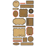 BasicGrey - Basic Kraft Collection - Cardstock Stickers - Labels