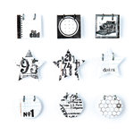 BasicGrey - Basic White Collection - Small Details - Decorative Stickers - Fasteners, CLEARANCE