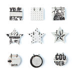 BasicGrey - Basic Manila Collection - Small Details - Decorative Stickers - Fasteners, CLEARANCE