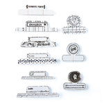 BasicGrey - Basic White Collection - Office Tabs - Self Adhesive Paper Labels, CLEARANCE