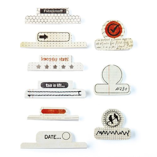 BasicGrey - Basics Manila Collection - Office Tabs - Self Adhesive Paper Labels, CLEARANCE
