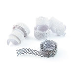 BasicGrey - Basic White Collection - Doilies - Self Adhesive Ribbon