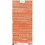 BasicGrey - Micro Monogram Stickers - Alphabet - Red