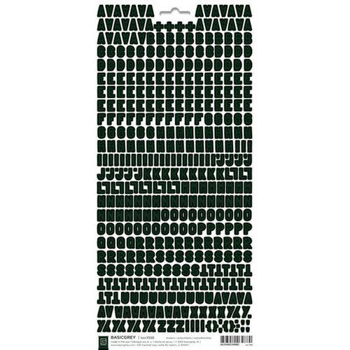 BasicGrey - Micro Monogram Stickers - Alphabet - Black