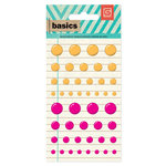 BasicGrey - Basics Collection - Candy Buttons - Orange and Pink
