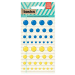 BasicGrey - Basics Collection - Candy Buttons - Blue and Yellow