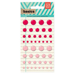 BasicGrey - Basics Collection - Candy Buttons - Red and Pink