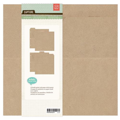 BasicGrey - Capture Collection - Kraft Album - 8 x 8 Ring Binder