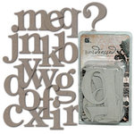 BasicGrey - Undressed Chipboard Monograms
