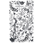 BasicGrey Element Rub Ons - Birds and Butterflies - Black