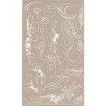BasicGrey Element Rub Ons - Urban Calligraphy - White, CLEARANCE