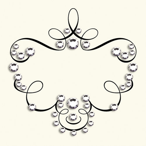 BasicGrey - Bling It On Collection - Rub Ons and Rhinestones - Laurel