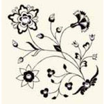 BasicGrey - Bling It On Collection - Rub Ons and Rhinestones - Sweet William - Black, CLEARANCE