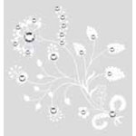 BasicGrey - Bling It On Collection - Rub Ons and Rhinestones - Corn Poppy - White, CLEARANCE