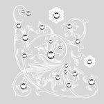 BasicGrey - Bling It On Collection - Rub Ons and Rhinestones - Guardian - White, CLEARANCE