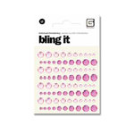 BasicGrey - Bling It Collection - Rhinestones - Individual Dots - Blush and Rouge