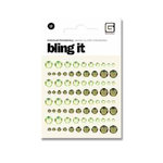 BasicGrey - Bling It Collection - Rhinestones - Individual Dots - Grass and Ivy