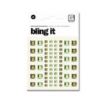 BasicGrey - Bling It Collection - Rhinestones - Individual Squares - Grass and Ivy