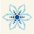 BasicGrey - Bling It Collection - Rhinestones - Designer Lotus - Sky, CLEARANCE