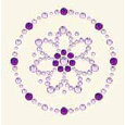 BasicGrey - Bling It Collection - Rhinestones - Designer Daisy - Lilac