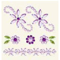BasicGrey - Bling It Collection - Rhinestones - Designer Bouquet - Lilac