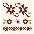 BasicGrey - Bling It Collection - Rhinestones - Designer Bouquet - Ruby