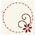 BasicGrey - Bling It Collection - Rhinestones - Designer Frame - Ruby