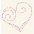 BasicGrey - Bling It Collection - Rhinestones - Designer Heart - Blush, CLEARANCE