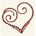 BasicGrey - Bling It Collection - Rhinestones - Designer Heart - Ruby