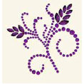 BasicGrey - Bling It Collection - Rhinestones - Designer Wheatgrass - Violet