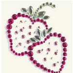 BasicGrey - Bling It Collection - Rhinestones - Designer Strawberry - Rouge, CLEARANCE
