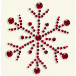BasicGrey - Bling It Collection - Rhinestones - Designer Snowflake - Ruby, CLEARANCE